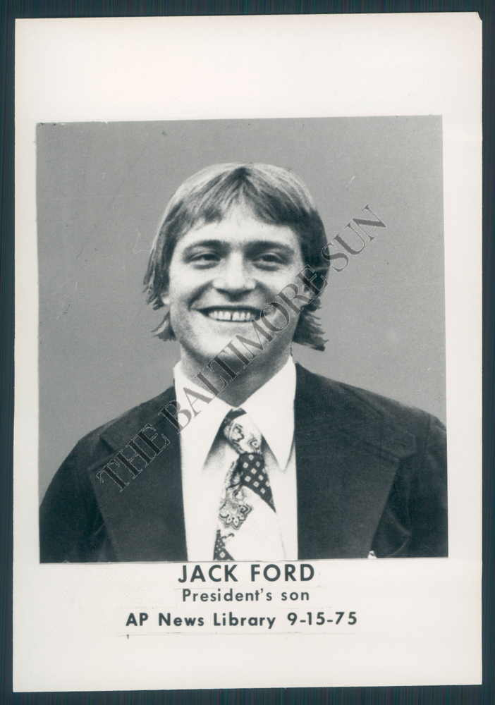 Bs Photo Bkz 162 Jack Ford Son Of Pres Gerald Ford 1975